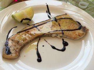 Grilled-swordfish-drizzed-with-Balsamic-Vinegar-at-Trattoria-del-Pesce-Fresco